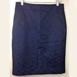 Classiques Entier Patterned Straight Pencil Skirt